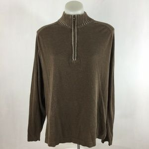 Tommy Bahama Mens Quarter Zip Pullover Sweater